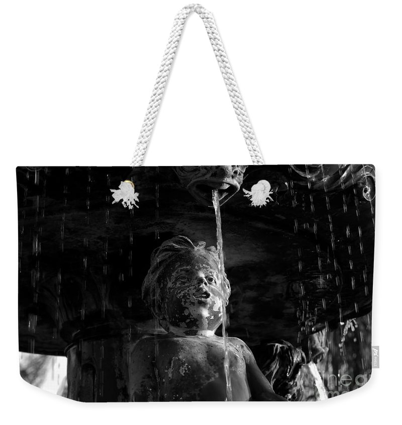 Water Fountain Weekender Tote Bag featuring the photograph Fountain Child by David Lee Thompson