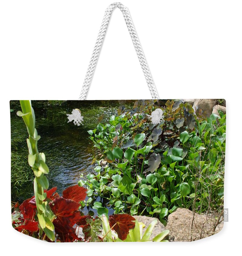 Macro Weekender Tote Bag featuring the photograph Fountain Flowers by Rob Hans