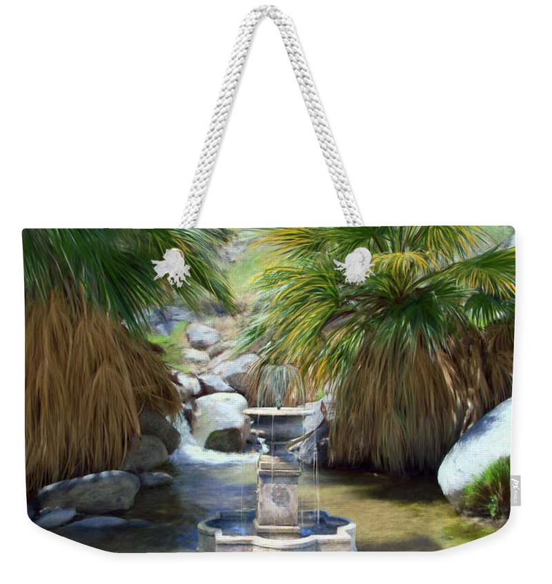Fountain Weekender Tote Bag featuring the digital art Fountain Of Youth by Snake Jagger