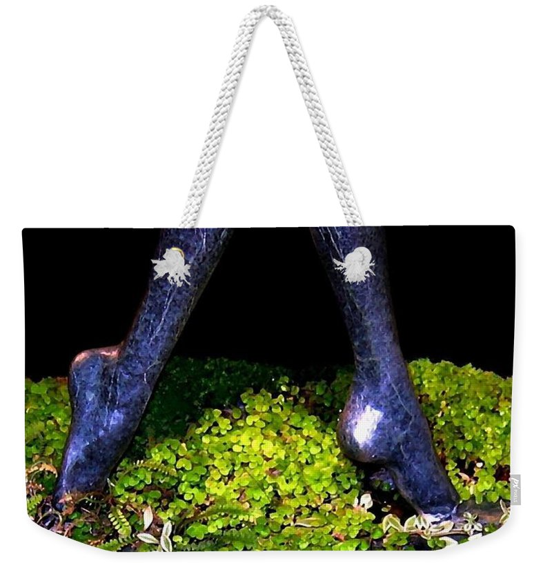Sculpture Weekender Tote Bag featuring the photograph Fountain Sculpture by Will Borden