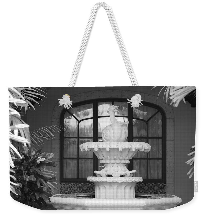 Architecture Weekender Tote Bag featuring the photograph Fountian And Window by Rob Hans