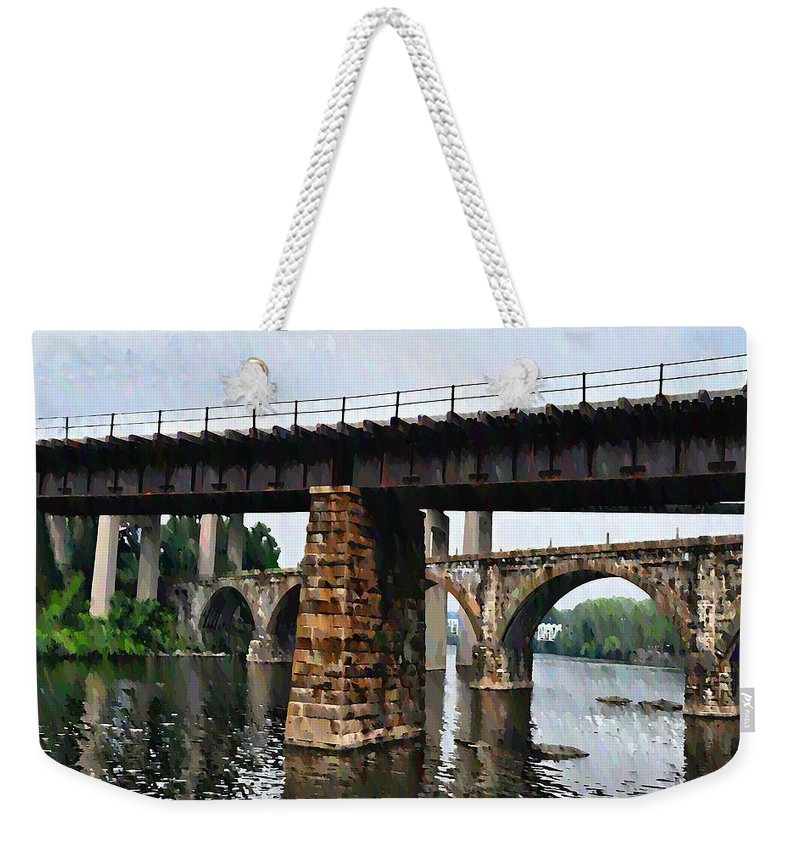 Bridge Weekender Tote Bag featuring the photograph Four Bridges Of East Falls by Bill Cannon