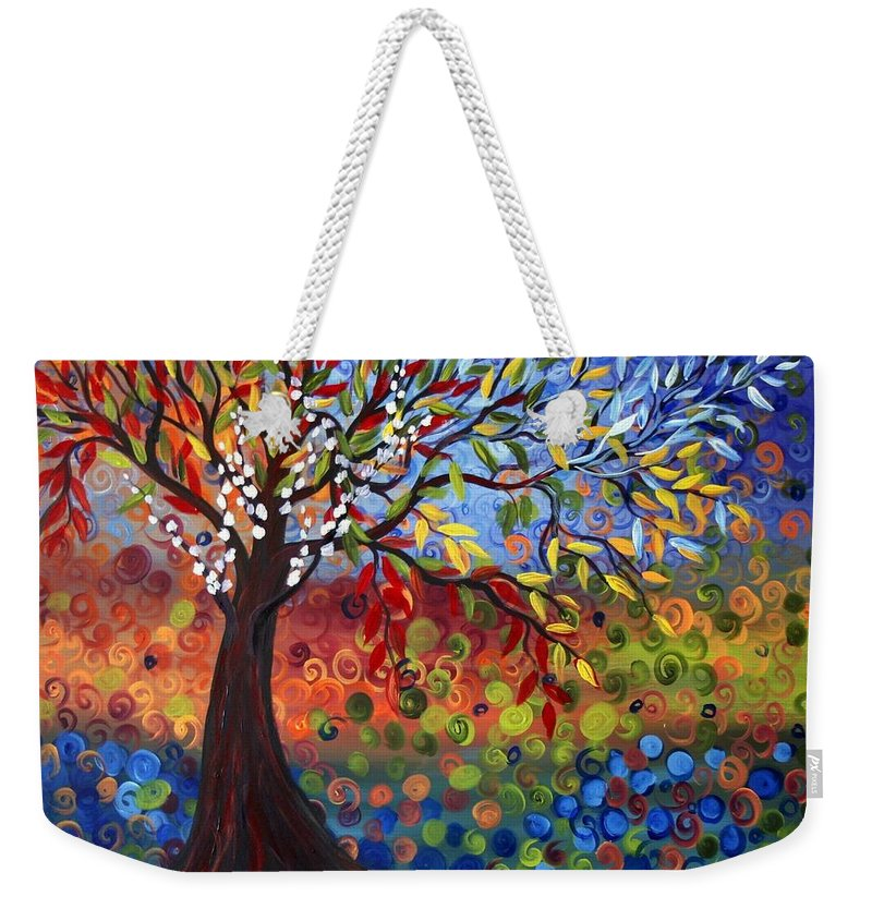 Art Weekender Tote Bag featuring the painting Four Seasons by Luiza Vizoli