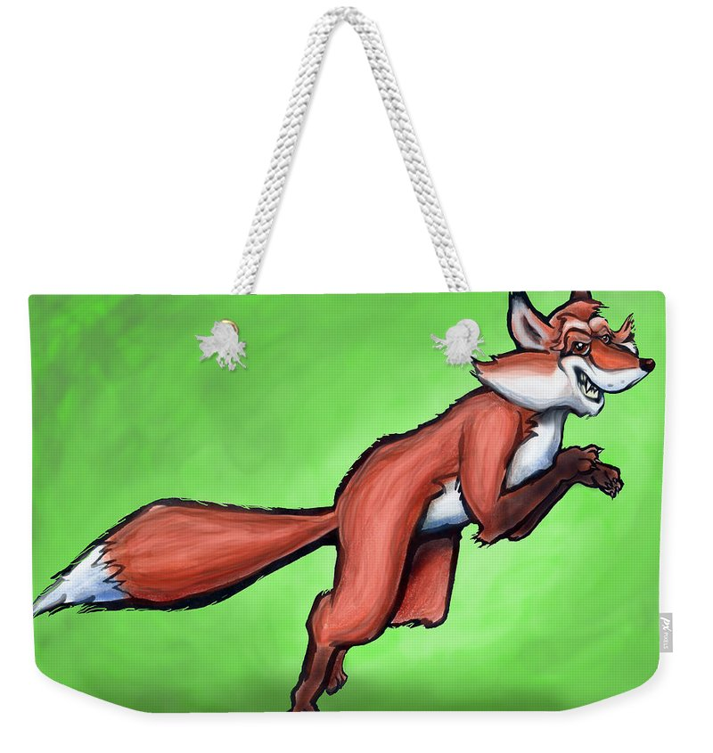 Fox Weekender Tote Bag featuring the greeting card Fox by Kevin Middleton