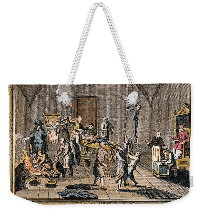 16th Century Weekender Tote Bag featuring the photograph Foxe Spanish Inquisition by Granger