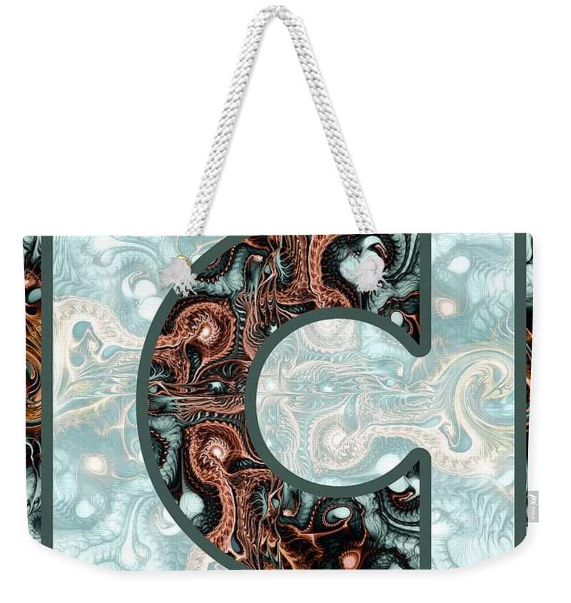 C Weekender Tote Bag featuring the digital art Fractal - Alphabet - C Is For Complexity by Anastasiya Malakhova