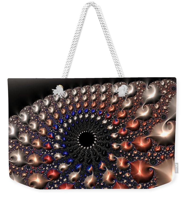 Fractal Weekender Tote Bag featuring the digital art Fractal Contact by Matthias Hauser