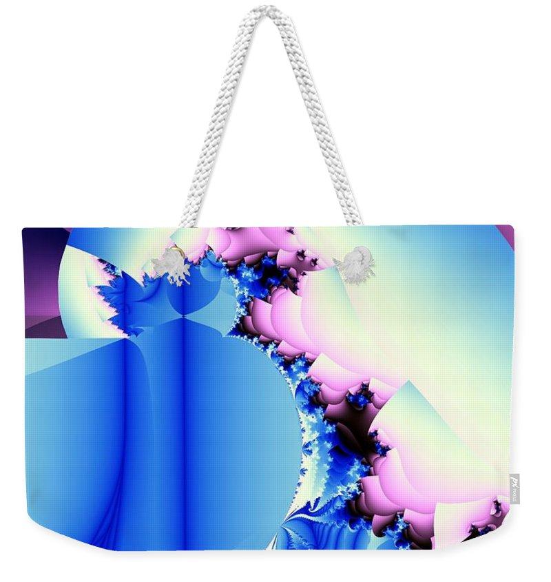 Fractal Art Weekender Tote Bag featuring the digital art Fractal Cornucopia by Ron Bissett
