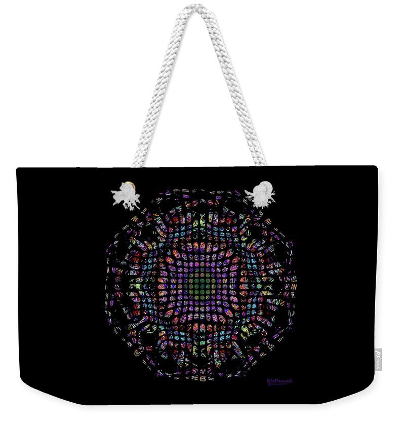 Digital Weekender Tote Bag featuring the digital art Fractal Delight by Diane Parnell