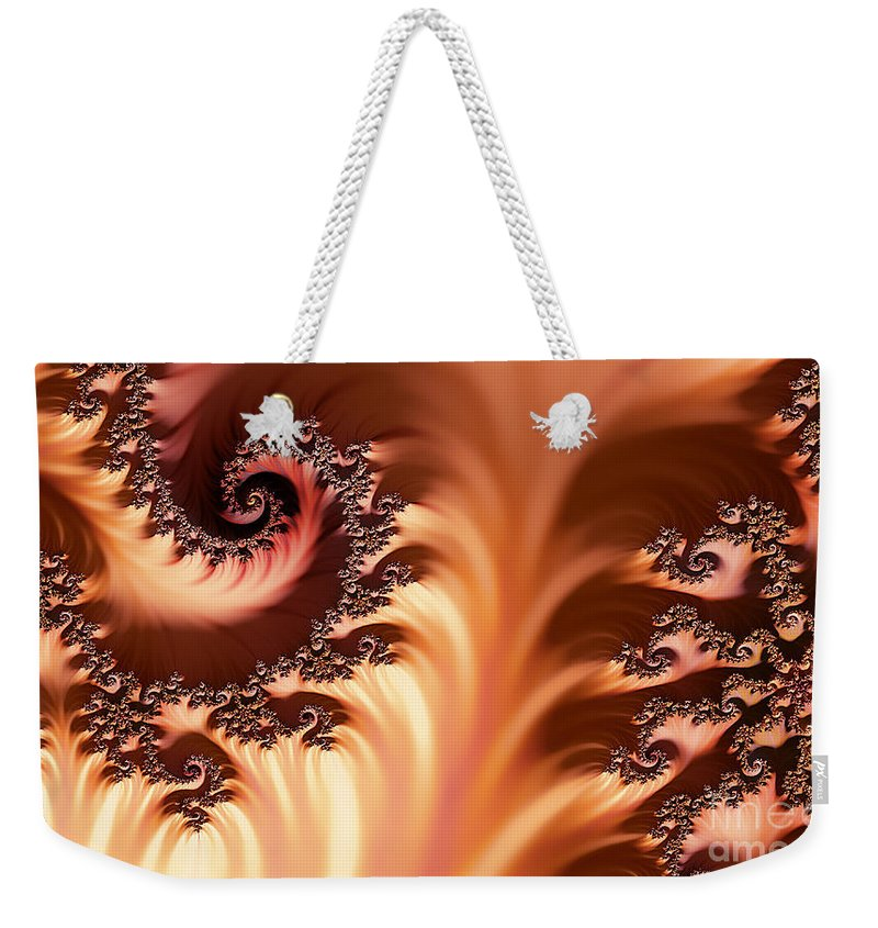Clay Weekender Tote Bag featuring the digital art Fractal Desert by Clayton Bruster