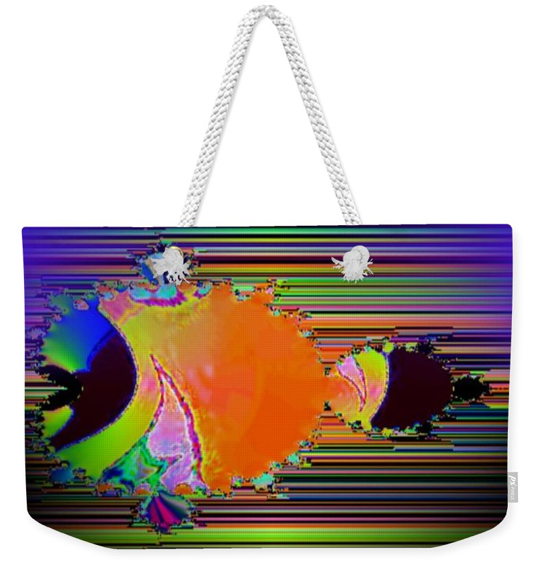 Fractal Weekender Tote Bag featuring the photograph Fractal Fishy by Tim Allen
