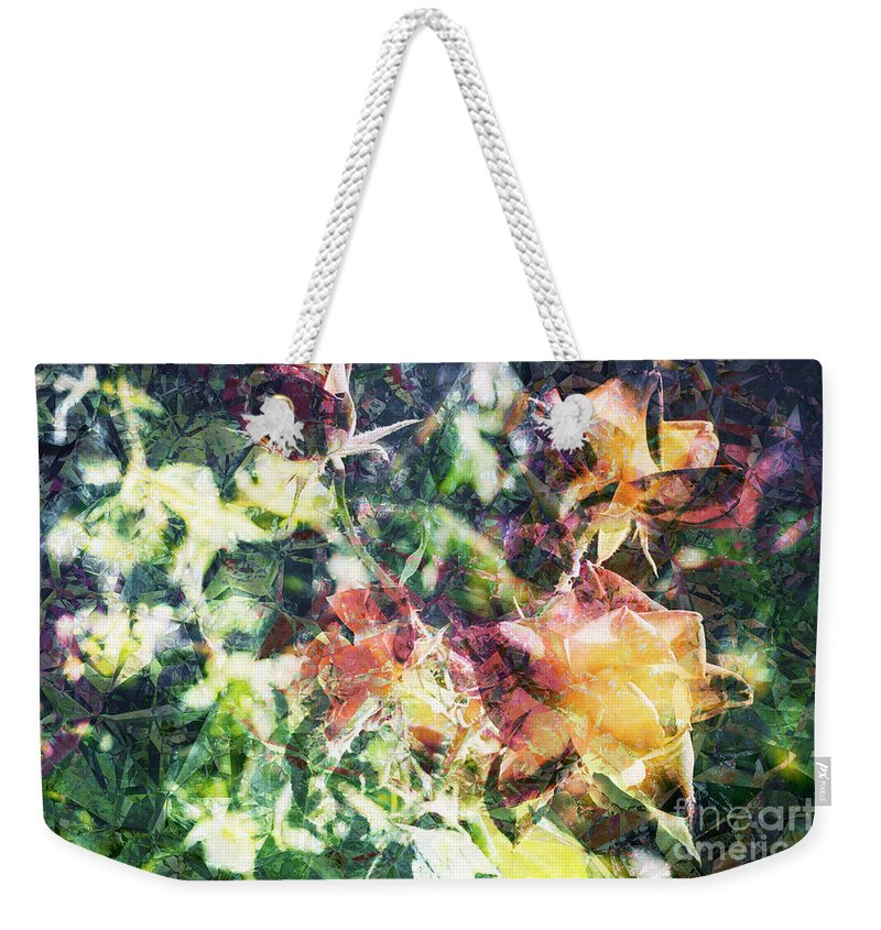 Fractal Weekender Tote Bag featuring the digital art Fractal Flowers by Davy Cheng