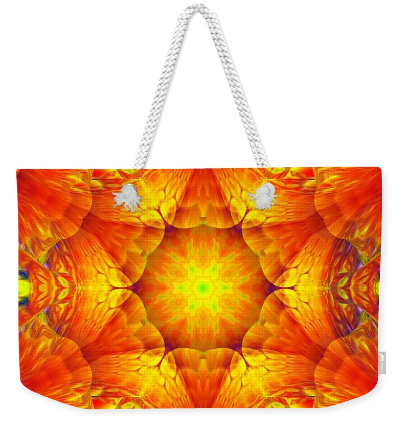 Abstract Digital Painting Weekender Tote Bag featuring the digital art Fractal Garden 10 by David Lane