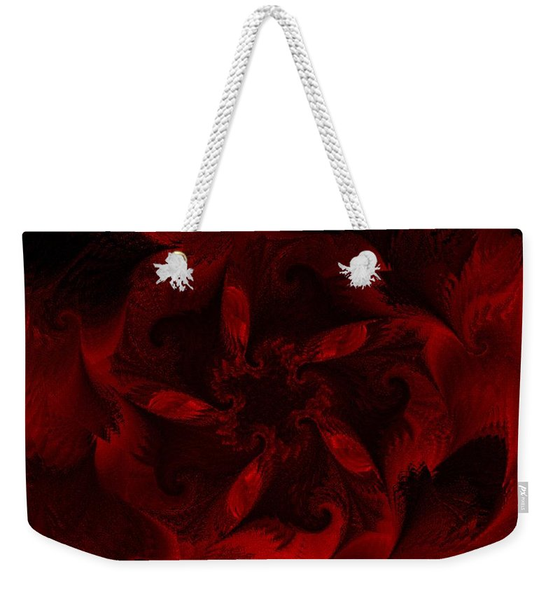 Abstract Digital Painting Weekender Tote Bag featuring the digital art Fractal Garden 18 by David Lane