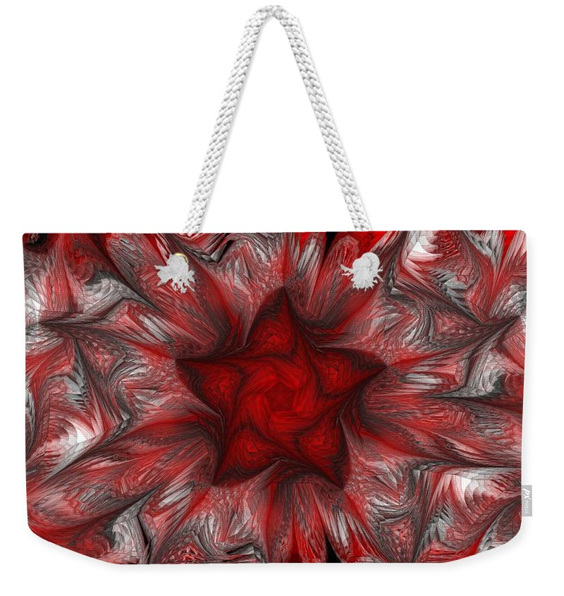 Abstract Digital Painting Weekender Tote Bag featuring the digital art Fractal Garden 3 by David Lane