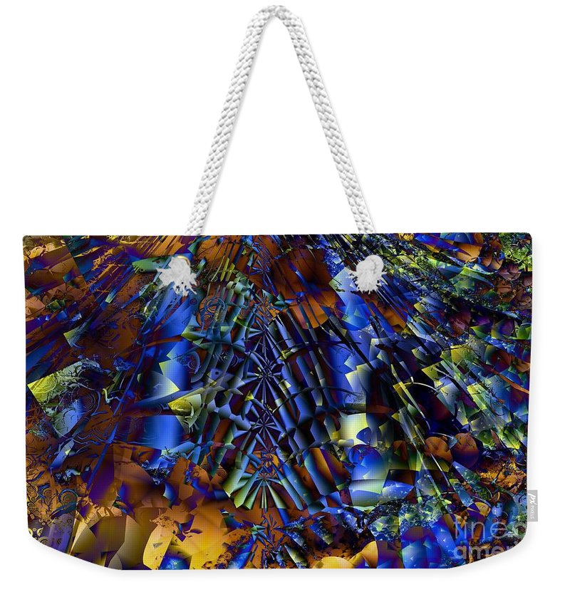 Fractal Weekender Tote Bag featuring the digital art Fractal Of The Day by Ron Bissett