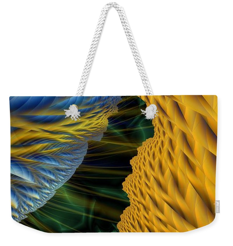 Lightning Weekender Tote Bag featuring the digital art Fractal Storm by Ron Bissett