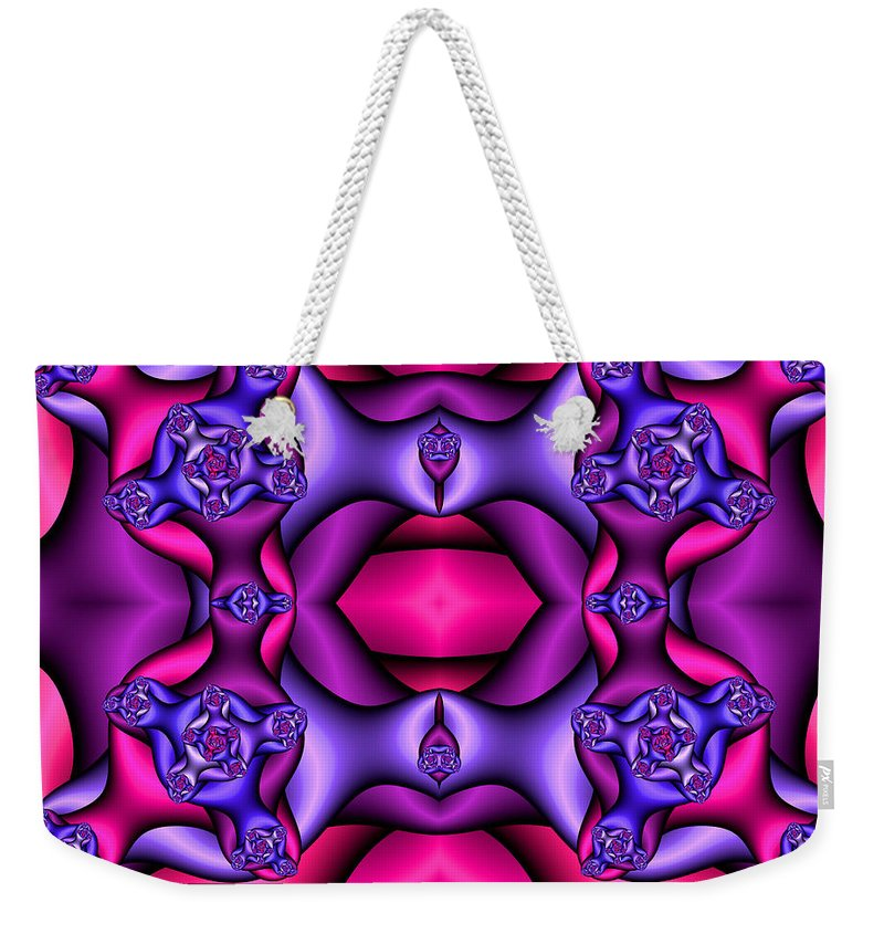 Weekender Tote Bag featuring the digital art Fractals By Design by Clayton Bruster