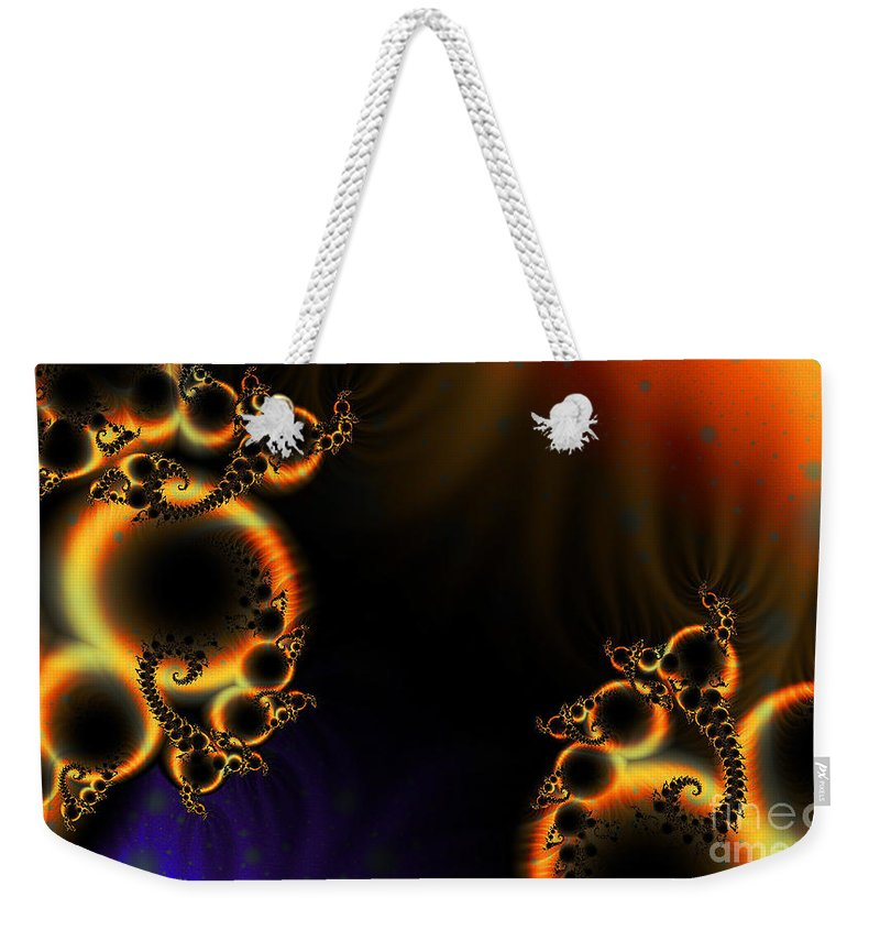 Clay Weekender Tote Bag featuring the digital art Fractalscape I by Clayton Bruster