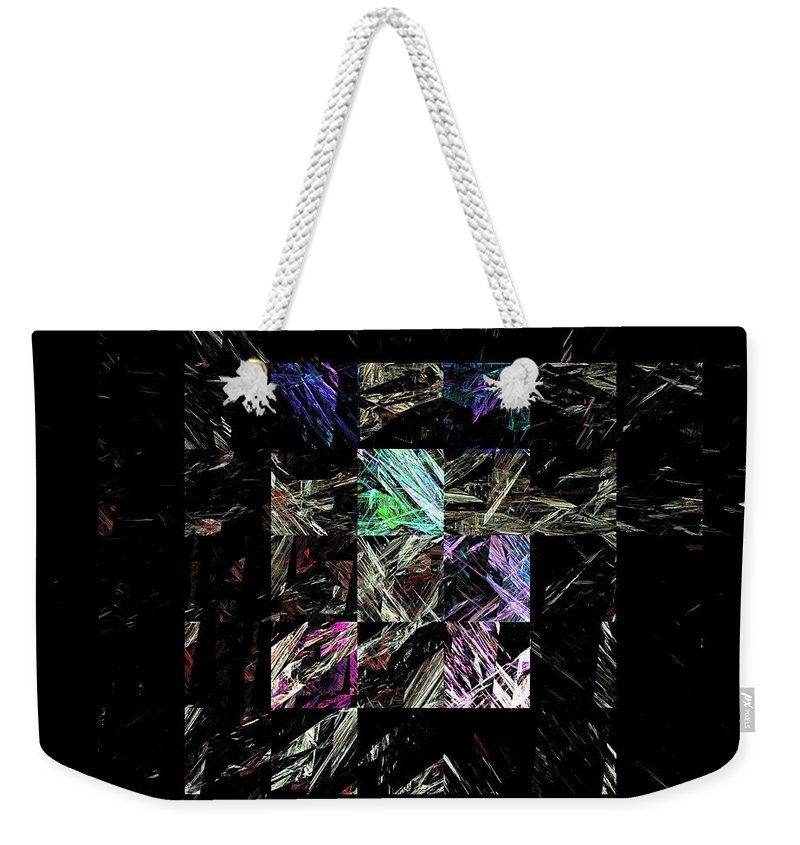 Abstract Digital Painting Weekender Tote Bag featuring the digital art Fractured Fractals by David Lane