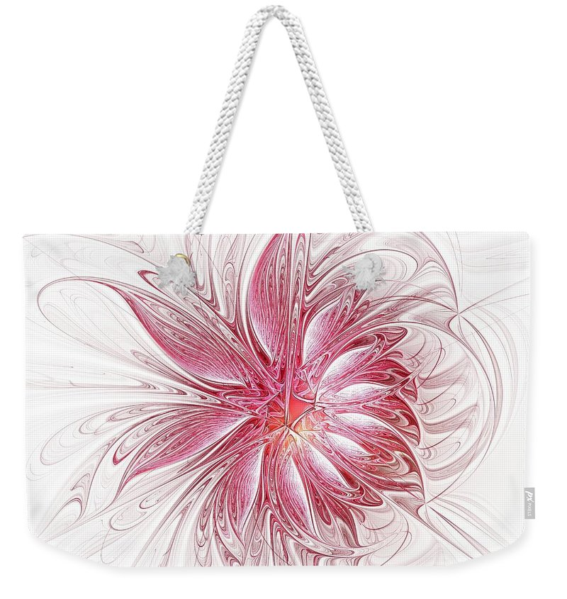 Digital Art Weekender Tote Bag featuring the digital art Fragile by Amanda Moore