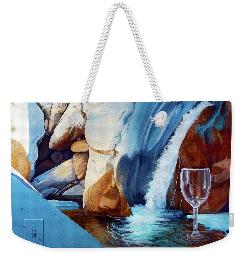 Landscape Weekender Tote Bag featuring the painting Fragile Moments by Snake Jagger