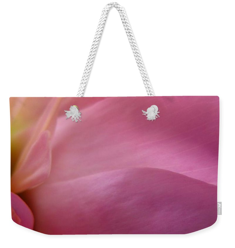 Flower Weekender Tote Bag featuring the photograph Fragment by Rhonda Barrett