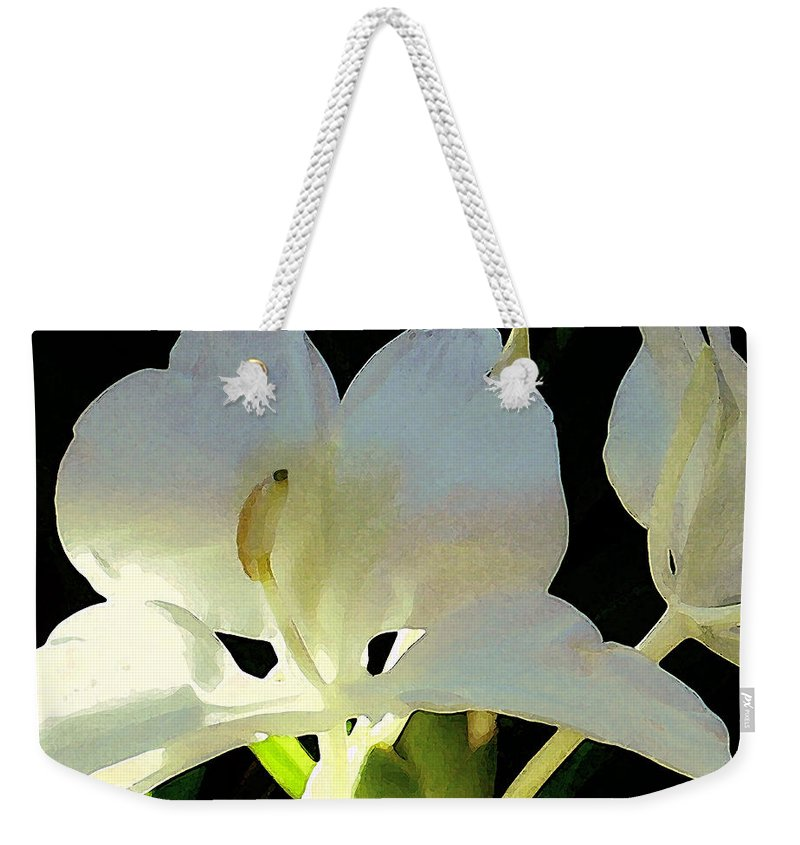 Ginger Weekender Tote Bag featuring the photograph Fragrant White Ginger by James Temple