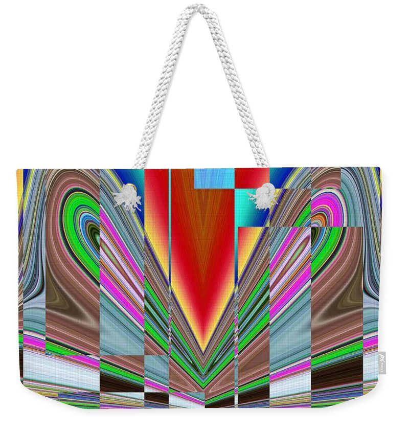 Abstract Weekender Tote Bag featuring the digital art Frame Of Mind by Tim Allen