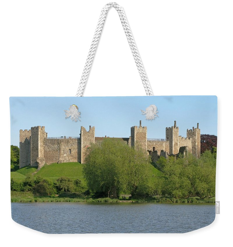 England Weekender Tote Bag featuring the photograph Framlingham Castle by Ann Horn