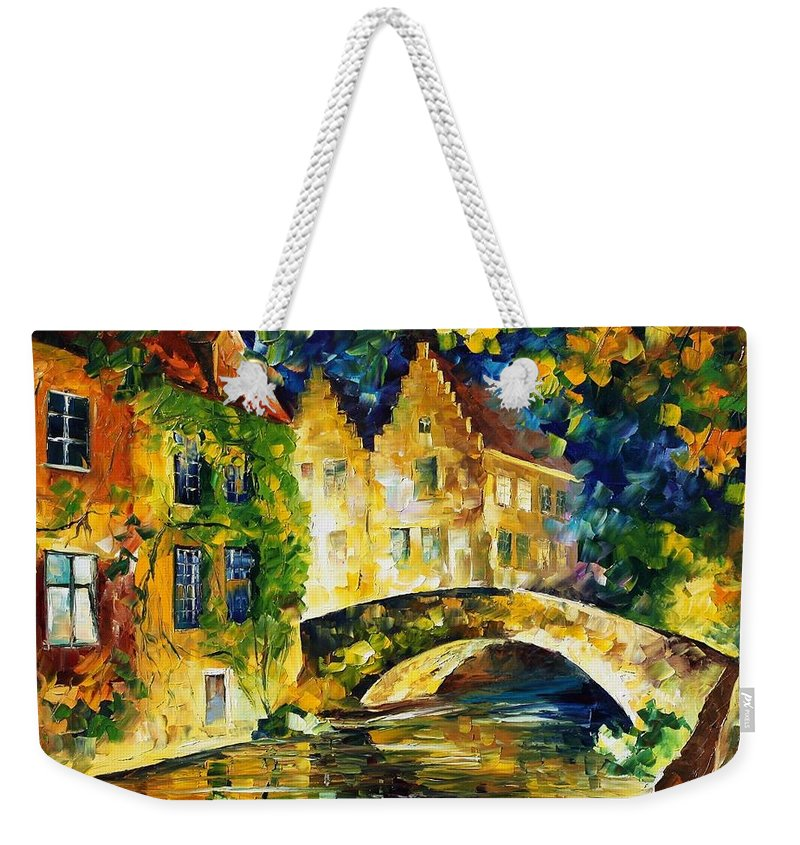 Afremov Weekender Tote Bag featuring the painting France by Leonid Afremov