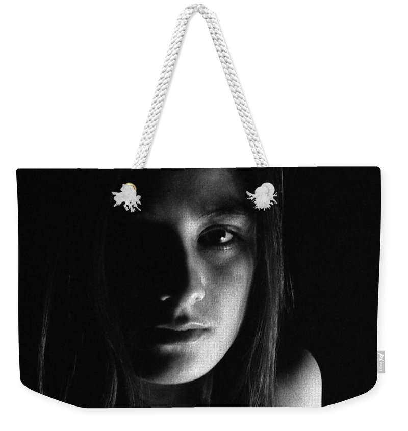 Weekender Tote Bag featuring the photograph Frances by Lee Santa
