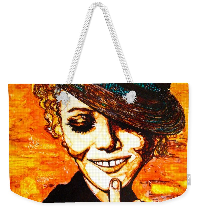 Weekender Tote Bag featuring the mixed media Francois by Sarah G ART