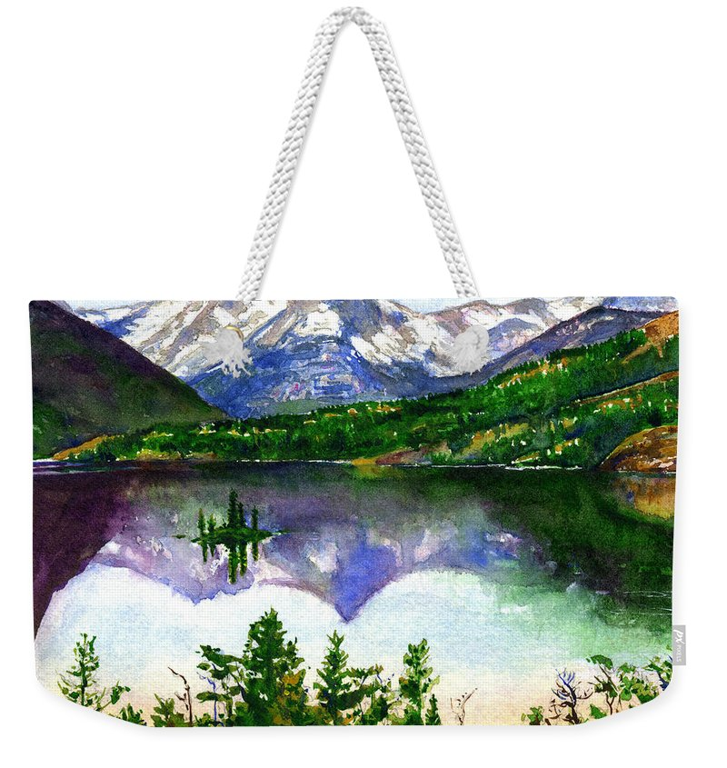 Watercolor Weekender Tote Bag featuring the painting Franks Painting by John D Benson