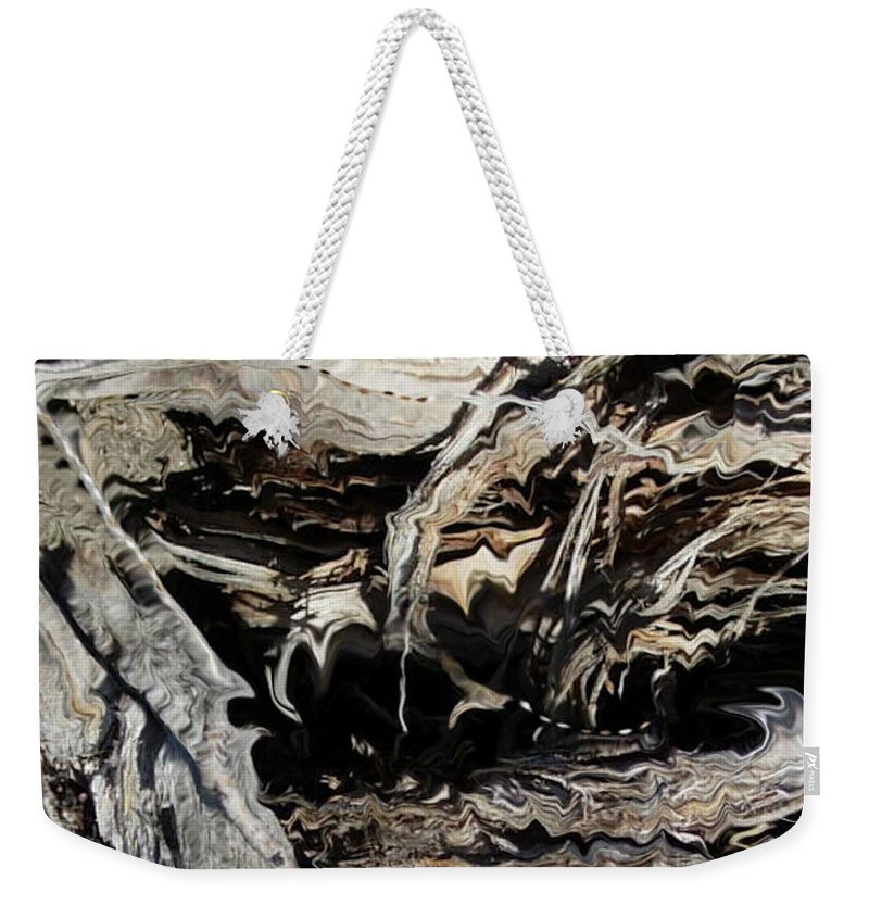 Abstract Art Weekender Tote Bag featuring the photograph Frayed and Distracted Thoughts by Stephanie H Johnson