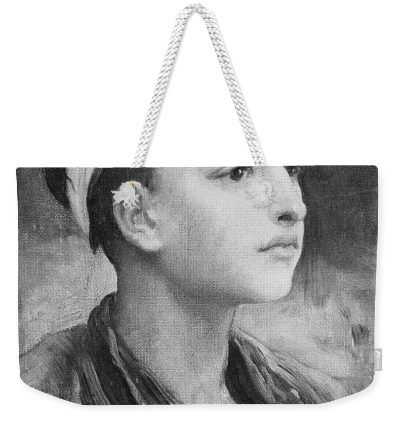 Man Weekender Tote Bag featuring the painting Frederic Leighton 1830 96 An Italian Fisher Boy by Frederic Leighton