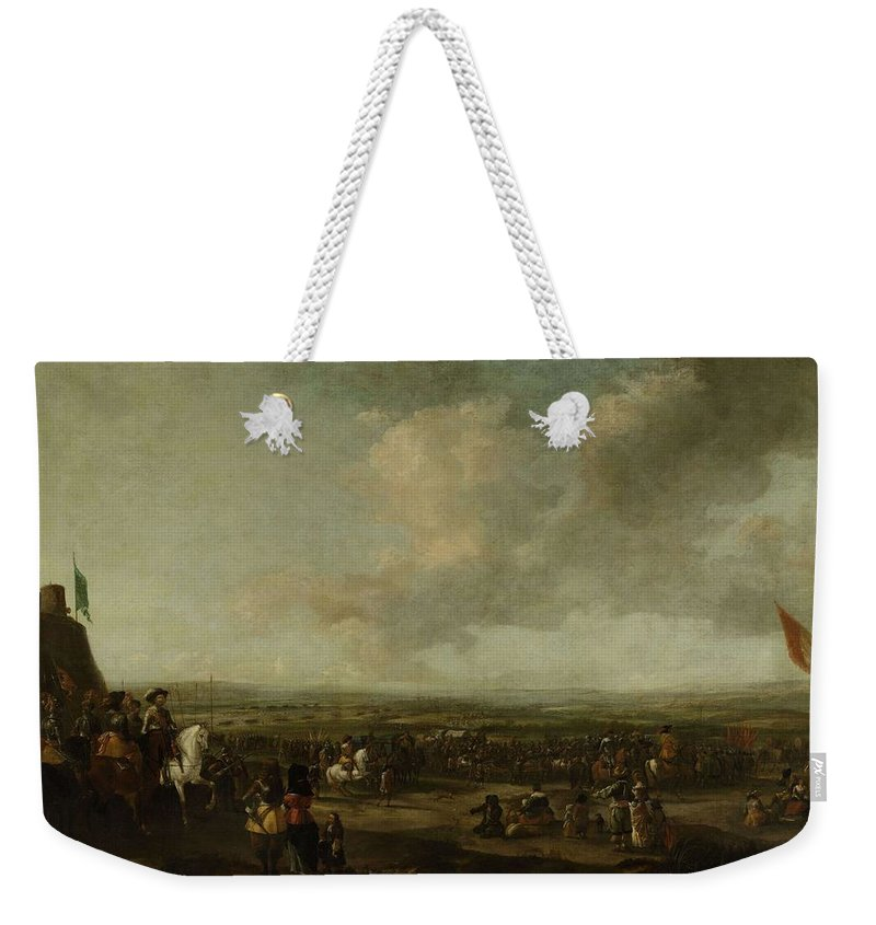 Nature Weekender Tote Bag featuring the painting Frederick Henry At The Surrender Of Maastricht 22 August 1632 Manner Of Pieter Wouwerman 1633  1 by Frederick Henry