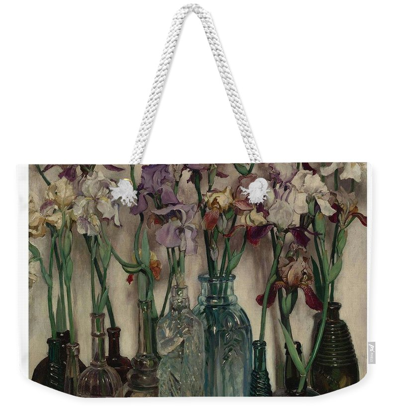 Flower Weekender Tote Bag featuring the painting Frederick Judd Waugh 1861 1940 Rum Row by Frederick Judd Waugh