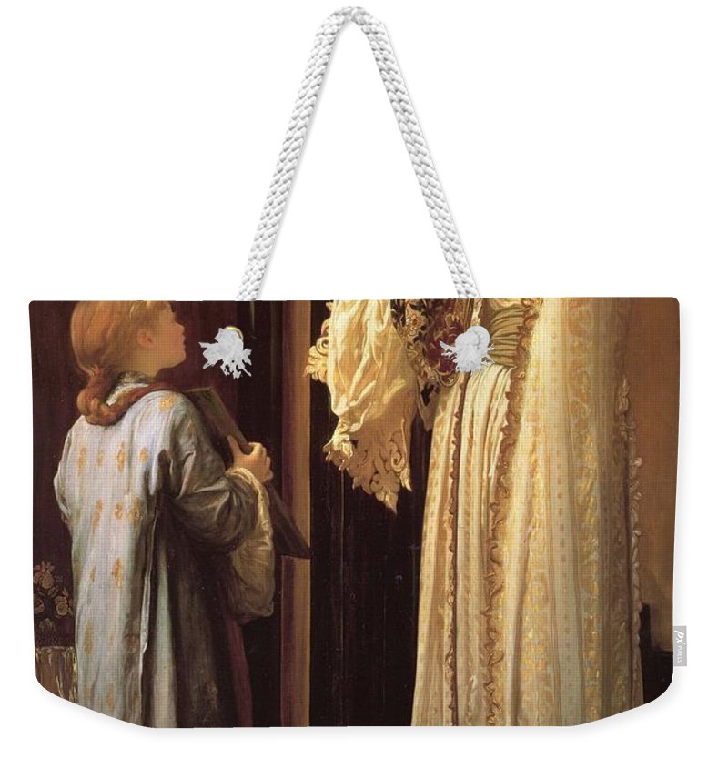 Girl Weekender Tote Bag featuring the painting Frederick Leighton Light Of The Harem C 1880 by Frederick Leighton