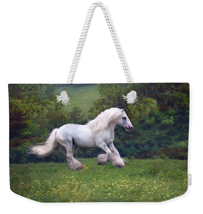 Horse Weekender Tote Bag featuring the photograph Free Billy by Fran J Scott