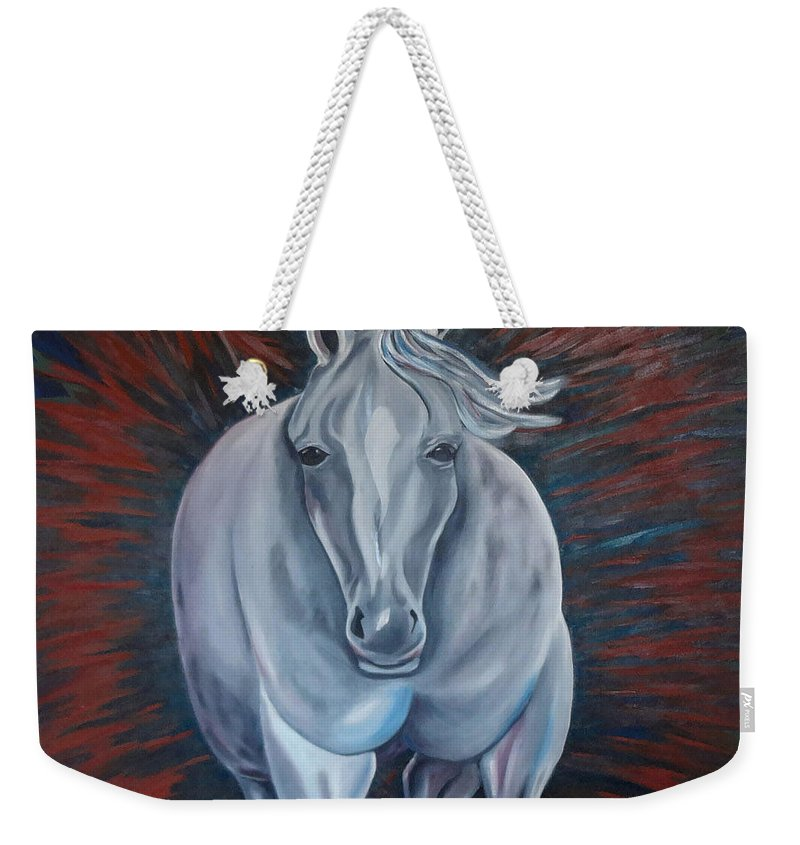 Free Weekender Tote Bag featuring the painting Free by Kimberly Riggs