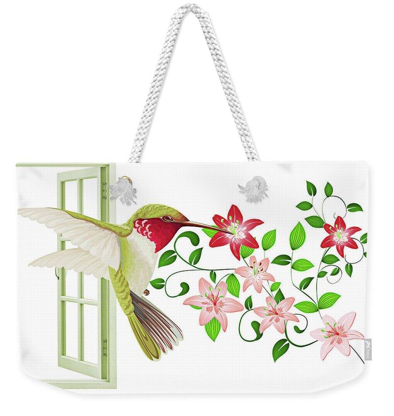 Bird Weekender Tote Bag featuring the photograph Free Soul by Munir Alawi
