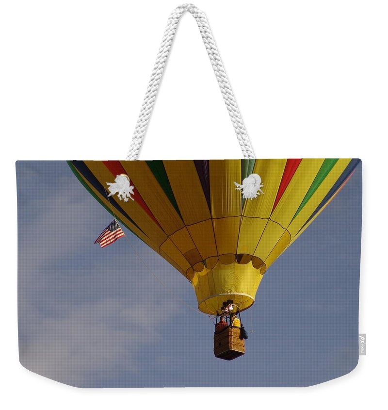 Balloon Weekender Tote Bag featuring the photograph Freedom by Carol Milisen