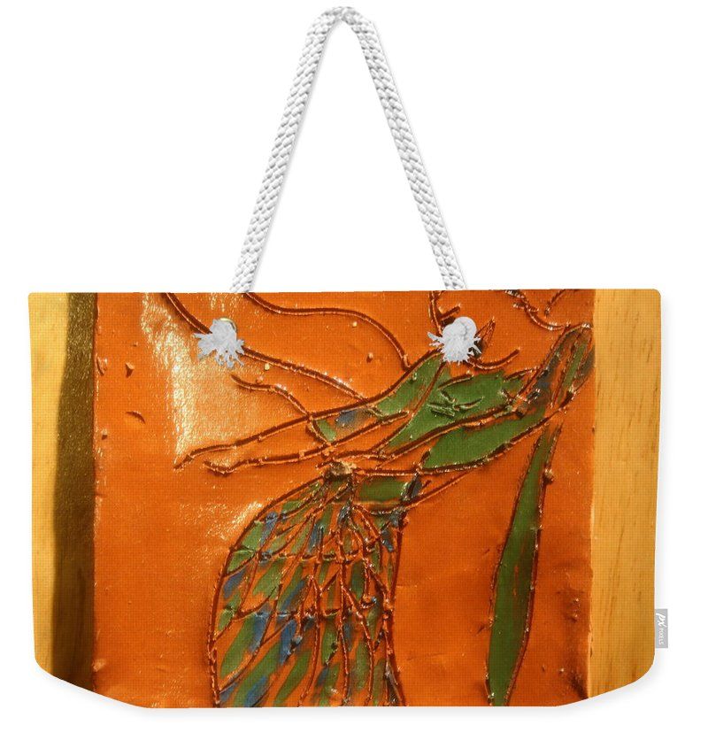 Jesus Weekender Tote Bag featuring the ceramic art Freedom Of Dance - Tiled by Gloria Ssali