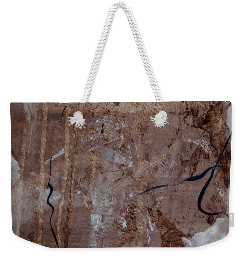 Abstract Weekender Tote Bag featuring the painting Freedom Of Expression by Ruth Palmer
