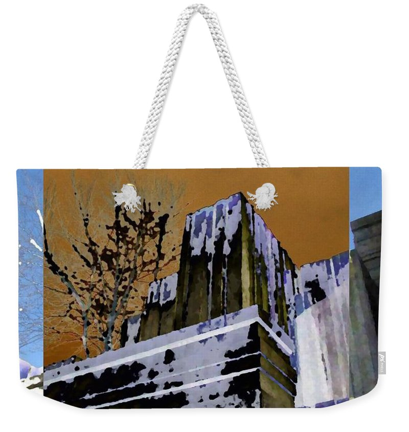 Seattle Weekender Tote Bag featuring the photograph Freeway Park 7 by Tim Allen