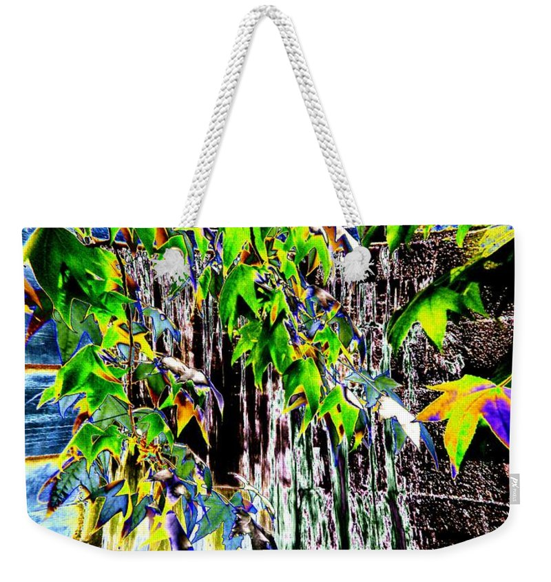 Seattle Weekender Tote Bag featuring the photograph Freeway Park Waterfall 3 by Tim Allen