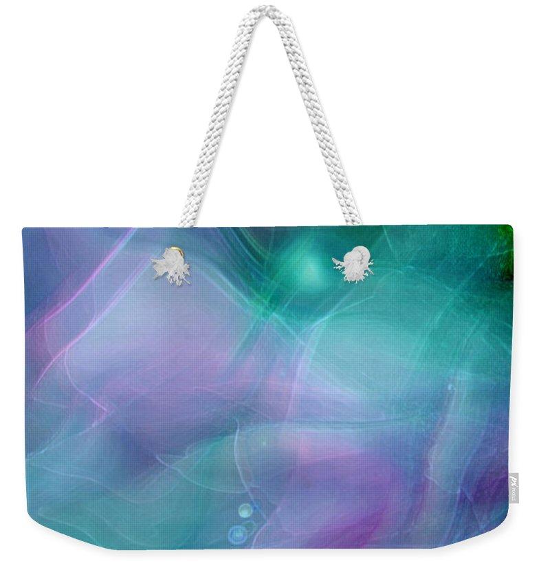 Abstract Art Weekender Tote Bag featuring the digital art Freewill by Linda Sannuti