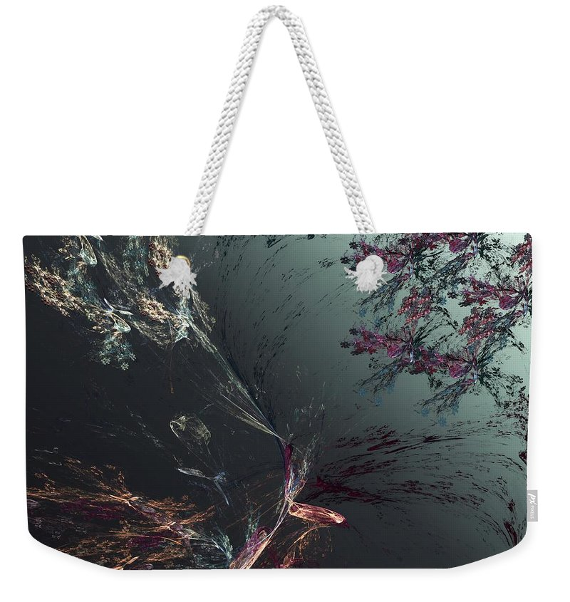 Abstract Weekender Tote Bag featuring the digital art Freeze Frame by David Lane
