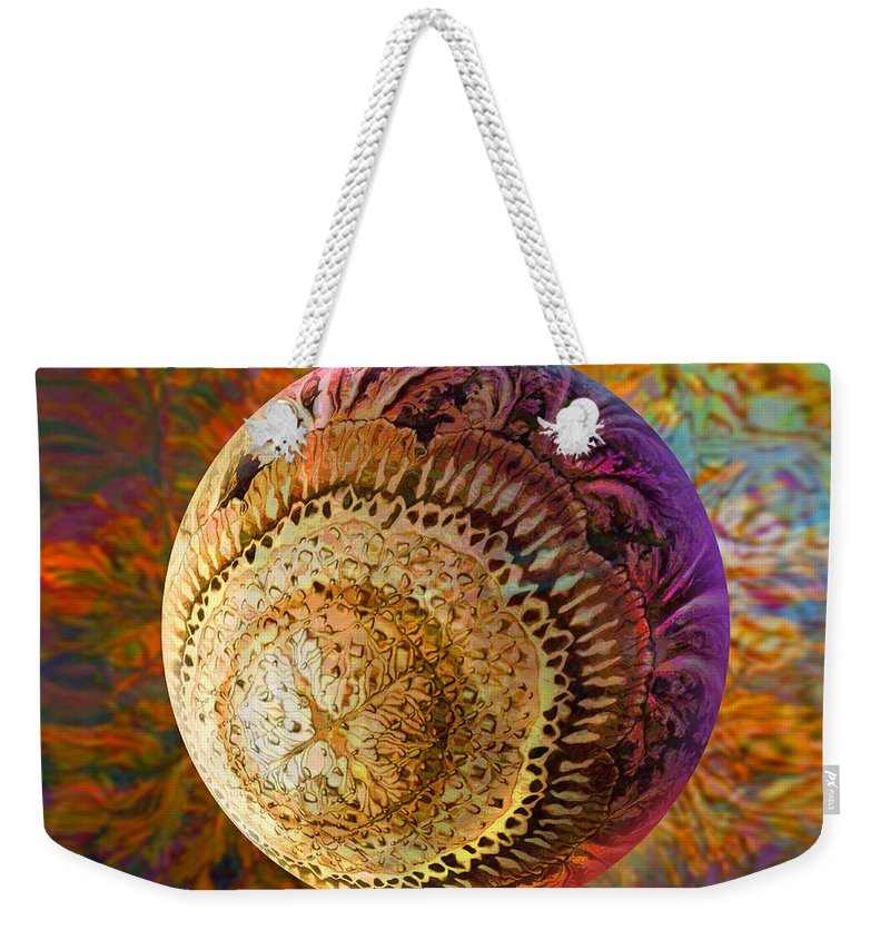 French Ornamental Weekender Tote Bag featuring the painting French Ornamental by Robin Moline